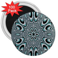 Kaleidoskope Digital Computer Graphic 3  Magnets (100 Pack)