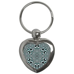 Kaleidoskope Digital Computer Graphic Key Chains (heart)