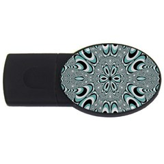 Kaleidoskope Digital Computer Graphic USB Flash Drive Oval (1 GB)