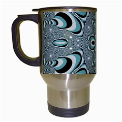 Kaleidoskope Digital Computer Graphic Travel Mugs (White)