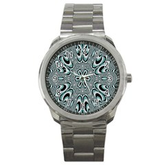 Kaleidoskope Digital Computer Graphic Sport Metal Watch