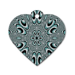 Kaleidoskope Digital Computer Graphic Dog Tag Heart (one Side)