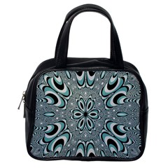 Kaleidoskope Digital Computer Graphic Classic Handbags (One Side)