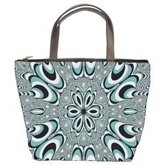 Kaleidoskope Digital Computer Graphic Bucket Bags