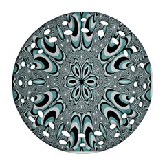 Kaleidoskope Digital Computer Graphic Ornament (Round Filigree)