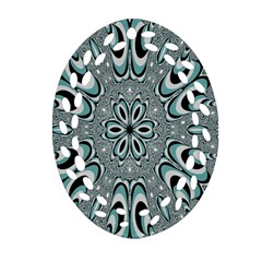 Kaleidoskope Digital Computer Graphic Oval Filigree Ornament (two Sides)
