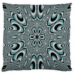 Kaleidoskope Digital Computer Graphic Large Cushion Case (one Side)