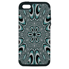 Kaleidoskope Digital Computer Graphic Apple Iphone 5 Hardshell Case (pc+silicone)