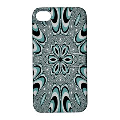 Kaleidoskope Digital Computer Graphic Apple Iphone 4/4s Hardshell Case With Stand