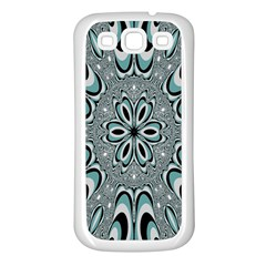 Kaleidoskope Digital Computer Graphic Samsung Galaxy S3 Back Case (White)