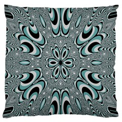 Kaleidoskope Digital Computer Graphic Large Flano Cushion Case (Two Sides)