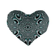 Kaleidoskope Digital Computer Graphic Standard 16  Premium Flano Heart Shape Cushions