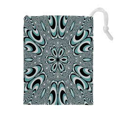 Kaleidoskope Digital Computer Graphic Drawstring Pouches (Extra Large)