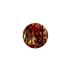 Forest Trees Abstract 1  Mini Buttons