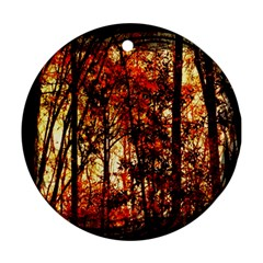 Forest Trees Abstract Ornament (Round)