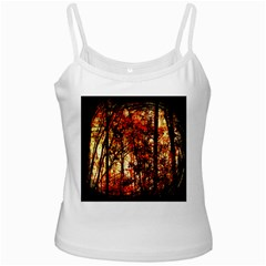Forest Trees Abstract White Spaghetti Tank