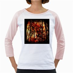 Forest Trees Abstract Girly Raglans