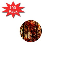 Forest Trees Abstract 1  Mini Magnets (100 pack)
