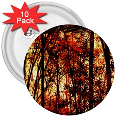 Forest Trees Abstract 3  Buttons (10 pack)