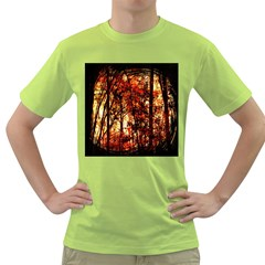 Forest Trees Abstract Green T-Shirt