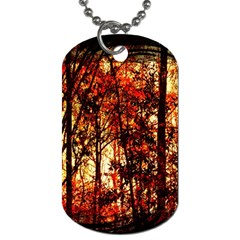 Forest Trees Abstract Dog Tag (One Side)