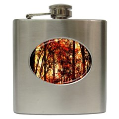 Forest Trees Abstract Hip Flask (6 Oz)