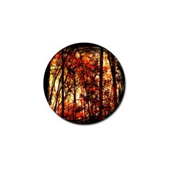 Forest Trees Abstract Golf Ball Marker