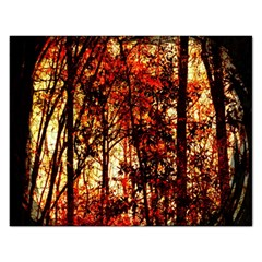 Forest Trees Abstract Rectangular Jigsaw Puzzl