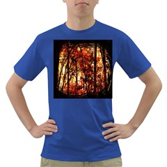 Forest Trees Abstract Dark T-Shirt