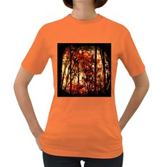 Forest Trees Abstract Women s Dark T-Shirt