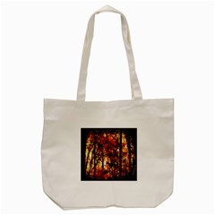 Forest Trees Abstract Tote Bag (cream)
