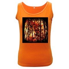 Forest Trees Abstract Women s Dark Tank Top