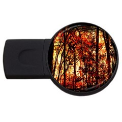 Forest Trees Abstract USB Flash Drive Round (4 GB)