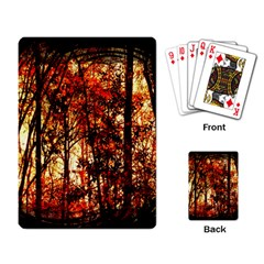 Forest Trees Abstract Playing Card