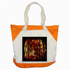 Forest Trees Abstract Accent Tote Bag