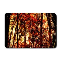 Forest Trees Abstract Small Doormat