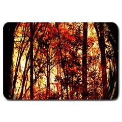 Forest Trees Abstract Large Doormat