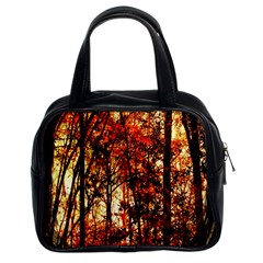 Forest Trees Abstract Classic Handbags (2 Sides)