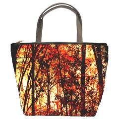 Forest Trees Abstract Bucket Bags