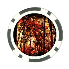 Forest Trees Abstract Poker Chip Card Guard (10 pack)