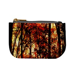 Forest Trees Abstract Mini Coin Purses
