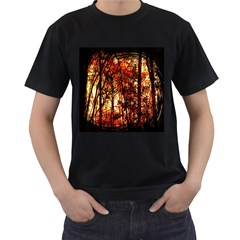 Forest Trees Abstract Men s T-Shirt (Black)