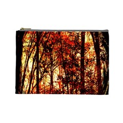 Forest Trees Abstract Cosmetic Bag (Large)