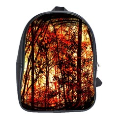 Forest Trees Abstract School Bags(Large)