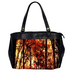 Forest Trees Abstract Office Handbags (2 Sides)