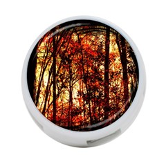 Forest Trees Abstract 4 Port Usb Hub (one Side)