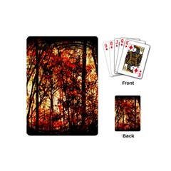 Forest Trees Abstract Playing Cards (mini)