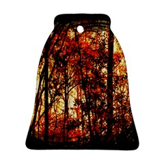 Forest Trees Abstract Ornament (Bell)