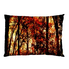 Forest Trees Abstract Pillow Case (two Sides)
