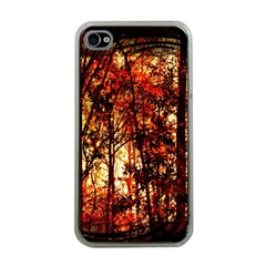 Forest Trees Abstract Apple iPhone 4 Case (Clear)